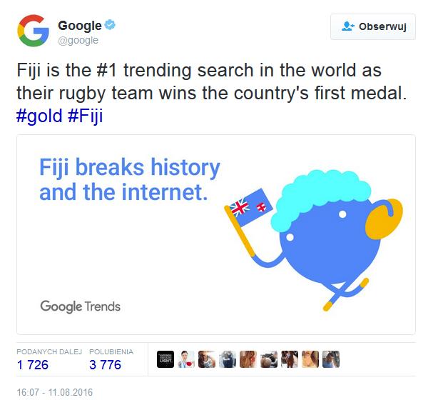 Przykład real time marketingu od Google