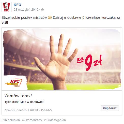 5 za 9 - akcja promocyjna KFC