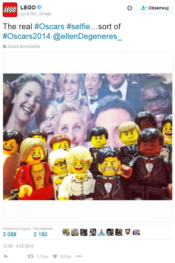 Selfie Lego na gali Oskarów