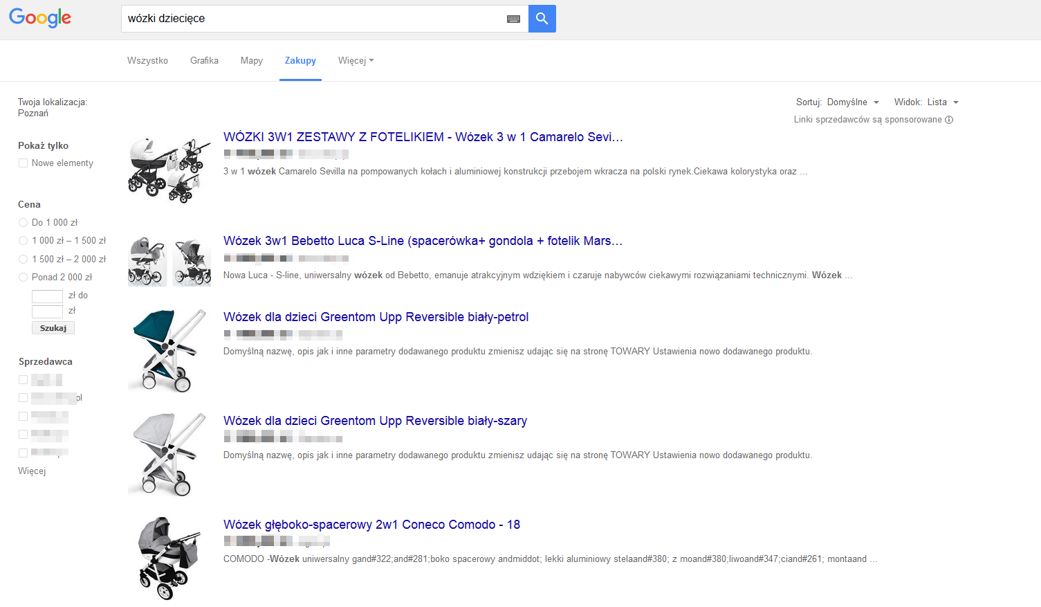 Porównywarka - zakupy od Google