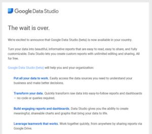 Google Data Studio w Polsce oficjalnie